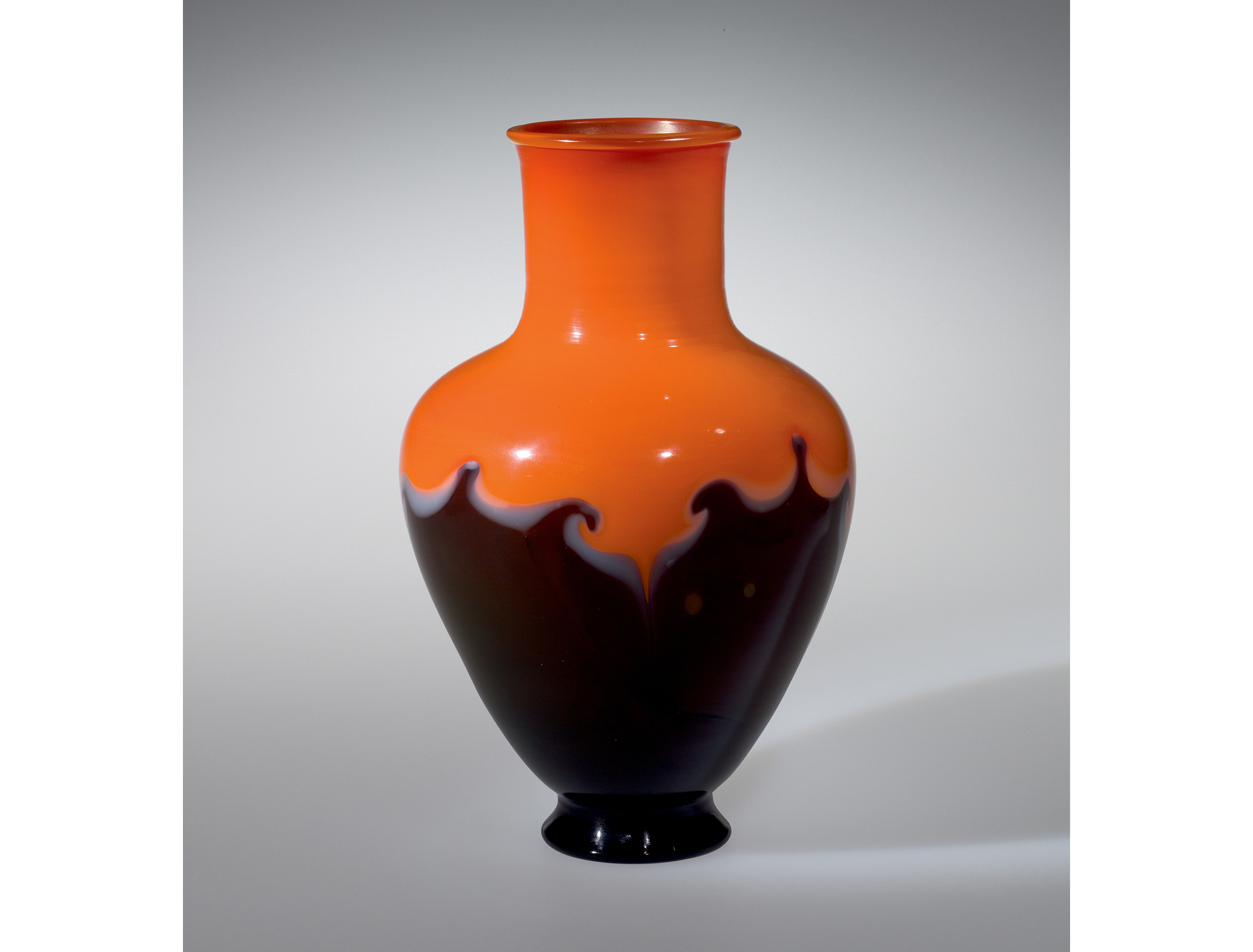 Orange and black vase. Rockwell Museum, L.1992.4.2001.