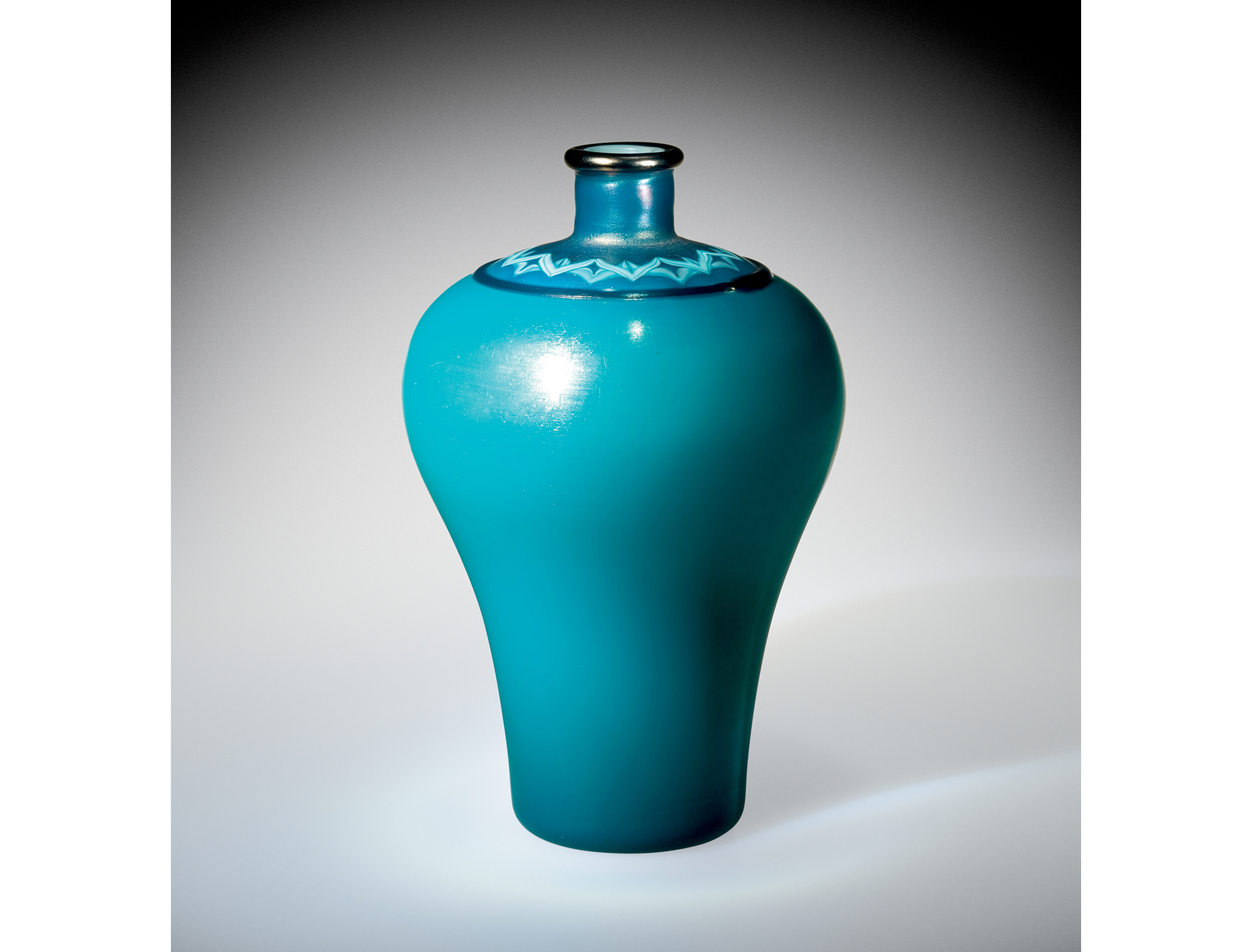 Blue vase with applied decoration. Rockwell Museum, L.2000.4.2001.