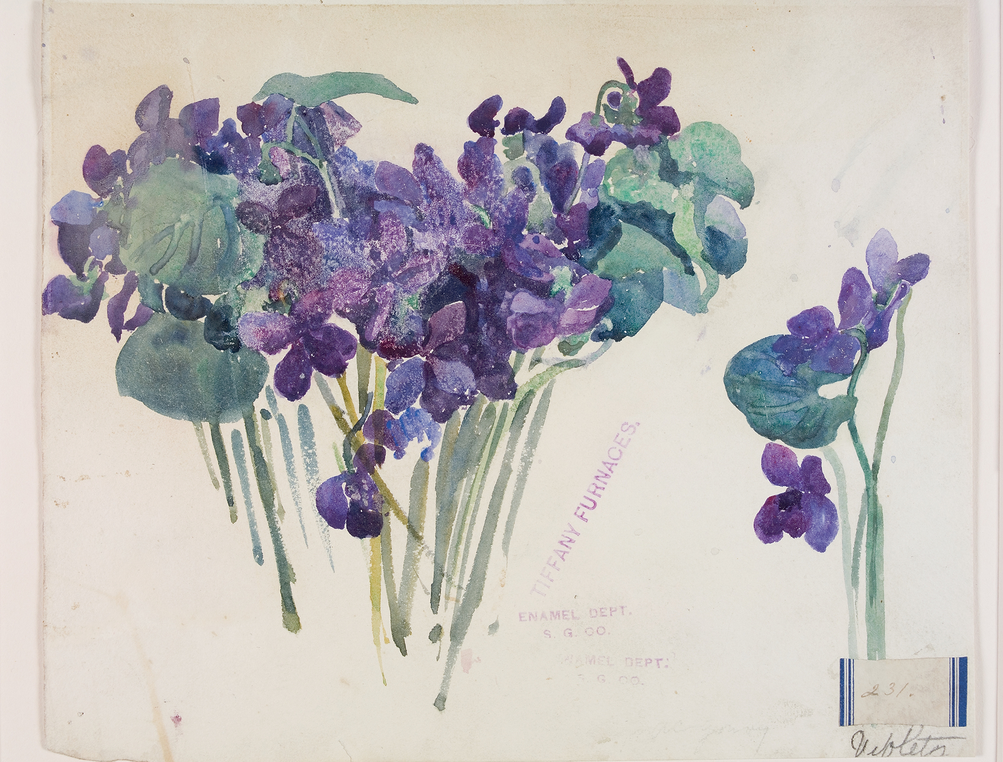 Violets 231, Alice Gouvy, Tiffany Furnaces, Corona, New York, about 1902. CMGL 89003.