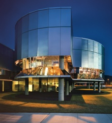 Birkerts building at The Corning Museum of Glass