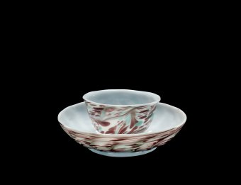 Fig. 8: Speckled teacup and saucer