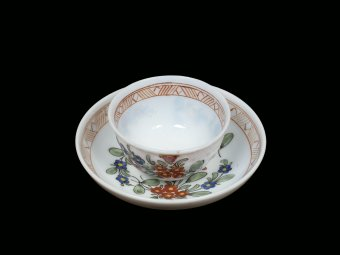 Fig. 13: Teacup and saucer with floral sprays
