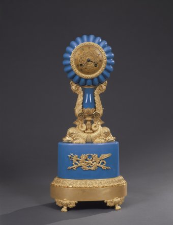 Fig. 22: Ormolu and blue opaline clock