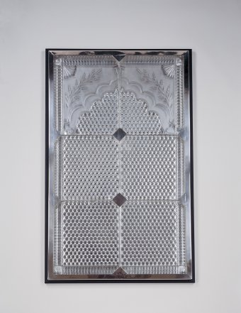 Fig. 42: Glass carpet made for the Bhopal Mosque, cast, cut, engraved. F. & C. Osler, about 1885. L. 114 cm. The Corning Museum of Glass, Corning, New York (2000.2.2).